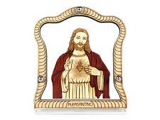 Car Frame / Stand for Dashboard - Wood Carved - Christian God Jesus - Trendy