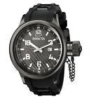 Invicta 0555 Men's Russian Diver Black Ion Plated Rubber Strap Swiss Watch