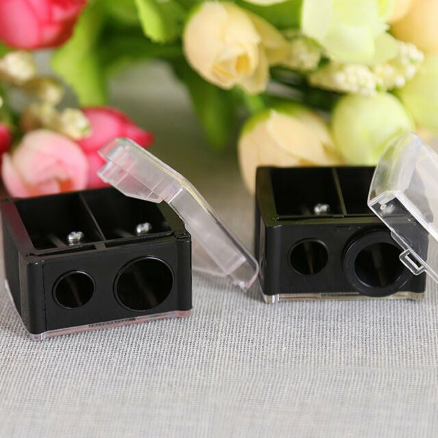 1pc 2Hole Makeup Cosmetic Pencil Sharpener For Eyebrow Lip Liner Eyeliner Pencil