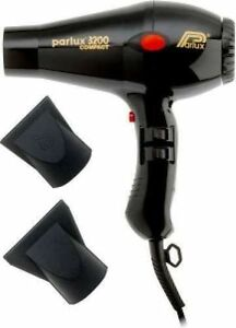 Parlux Compact 3200 Turbo Hair Dryer Black Includes 2
