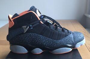 huge selection of 817ea af9c1 Image is loading Nike-Air-Jordan-6-Rings-Atomic-Orange-Elephant-