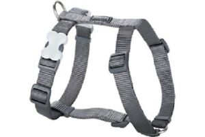 Red-Dingo-Plain-STEEL-GREY-Harness-for-Dog-or-Puppy-Sizes-XS-LG-FREE-P-amp-P