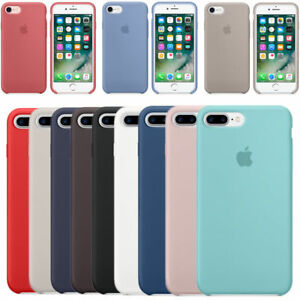 Genuine-Official-silicone-souple-Case-Cover-Housse-Pour-iPhone-X-8-7-6s-6-Plus