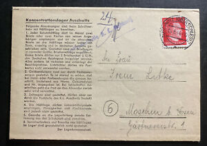 1944-Germany-Auschwitz-Concentration-Camp-LS-Cover-KZ-to-Moschin-Jaroslaw-Litke