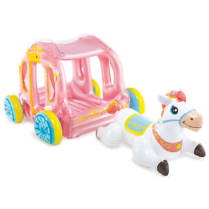 Intex 145cm Inflatable Princess Carriage w/Unicorn Ride-On Kids Float Toy f/Pool