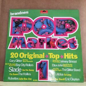 VARIOUS-Pop-Market-1-1975-German-manufactured-vinyl-LP-EXCELLENT-CONDITION