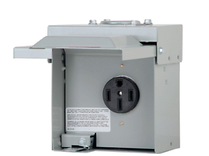 Temporary Outdoor Rv Electrical Power Outlet Box 50 Amp
