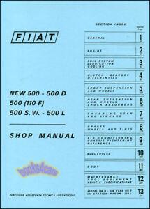 fiat 500 shop manual book service repair abarth topolino nouva 500l rh ebay com Cheleste Biancho Topolino 37 Fiat Topolino Body