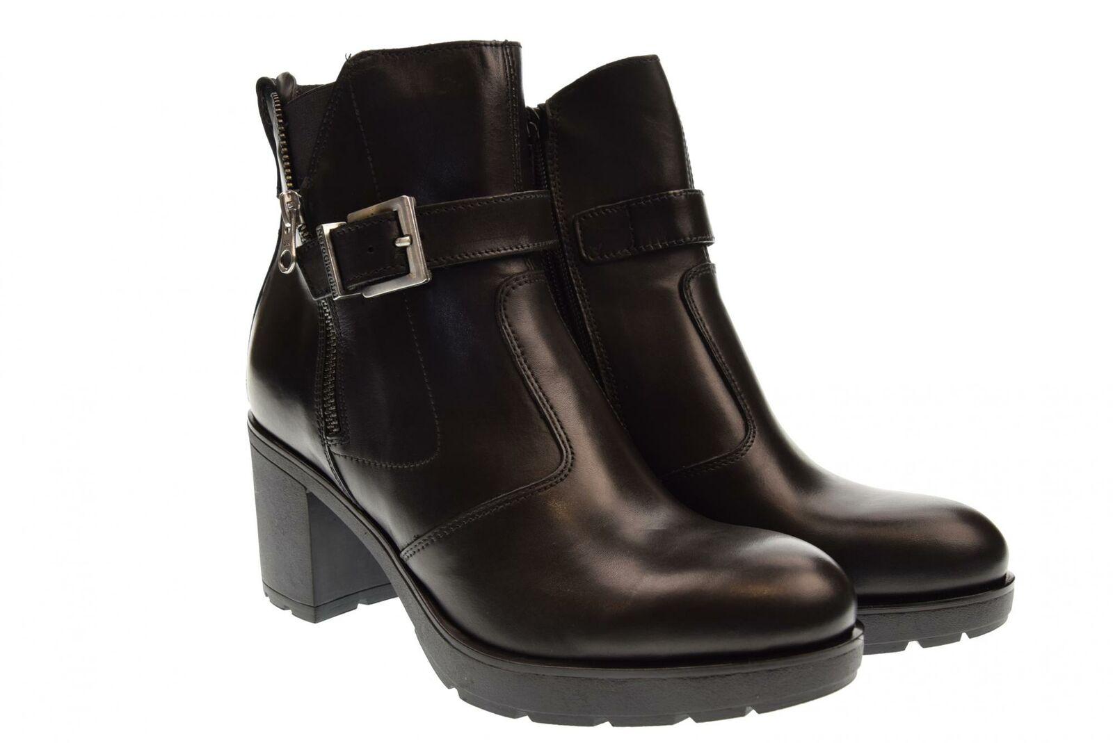 black Giardini A18f shoes femme bottines a talon A807062D   100