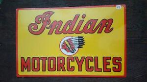 INDIAN-MOTORCYCLES-Placa-metalica-litografiada-publicidad-43-x-28-cm-replica