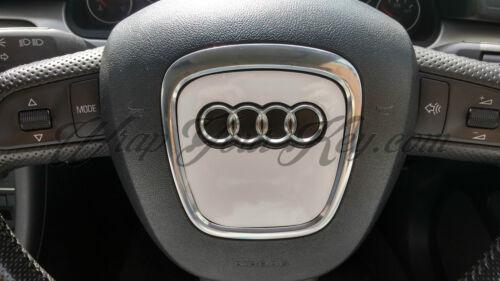 White Gloss Airbag Steering Wheel Wrap S RS A1 A3 A4 A5 A6 A8 TT Q3 Q5 Q7