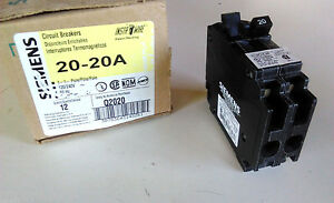 new siemens insta wire tandem circuit breaker q2020 20 20a 1 1p 120 rh ebay com