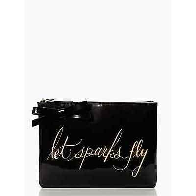 kate spade handbag let sparks fly georgie clutch bag/iPad/tablet case-NWT