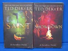 Ted Dekker Book Lot A Paradise Novel Showdown Saint Paperback Christian Suspene