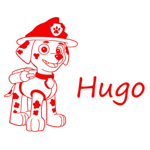 * 1 Sticker Pat Patrouilles- Prénom au Choix Marcus le Pompier