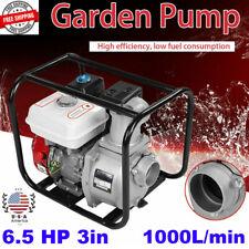 3 65hp Gas Water Semi Trash Pump 3 Inch Petrol High Pressure Garden Irrigation