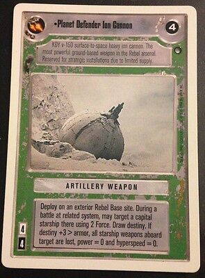 Star Wars CCG Hoth WB Unlimited Planet Defender Ion Cannon NrMint-Mint