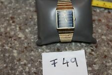 Nice Working vintage Seiko Watch 5y00-503h Square and Striped Face