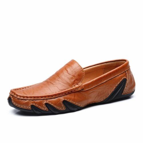 Homme Mocassins Cuir Chaussures de loisirs de mode de conduite à Enfiler Chaussures Ballerines Mocassins