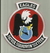 PATROL SQUADRON SIXTEEN U.S.NAVY PATCH EAGLES NAS JACKSONVILLE AIRCRAFT PILOT