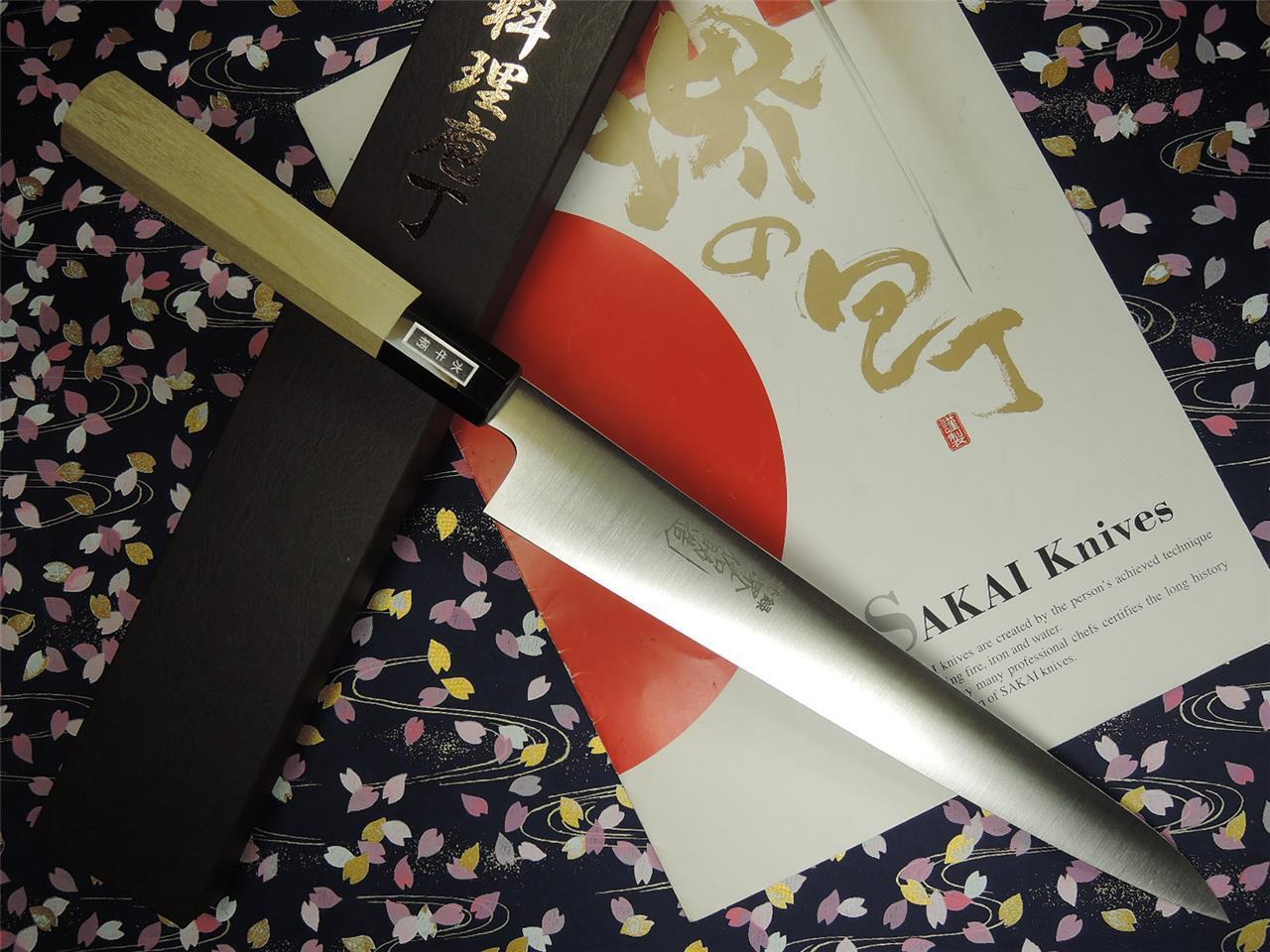 Japonais Sakai Yusuke Suédois Inoxydable WA-Sujihiki couteau 270 mm