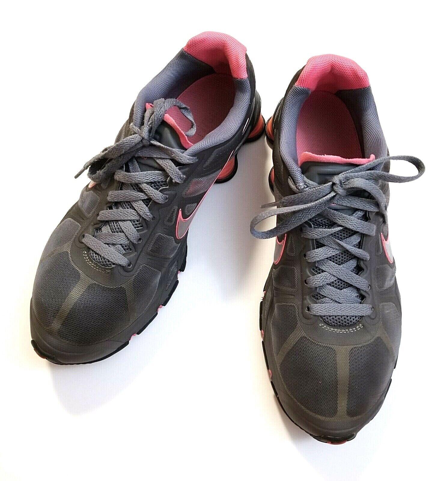 womens nike shox agente Nike Shox Agent Womens Pink Spark Grey iPod Ready Running Shoes ...