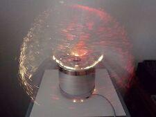 """Lampe fibre verre optique tournante """" La spheerique"""" 70's vintage"""