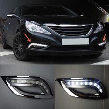 2pcs White LED Daytime Running Fog Lights For Hyundai Sonata 2011-2012