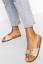 Details about  /Womens Ladies Sliders Buckle Strap Slides Croc Vegan Leather Summer Sandals Size
