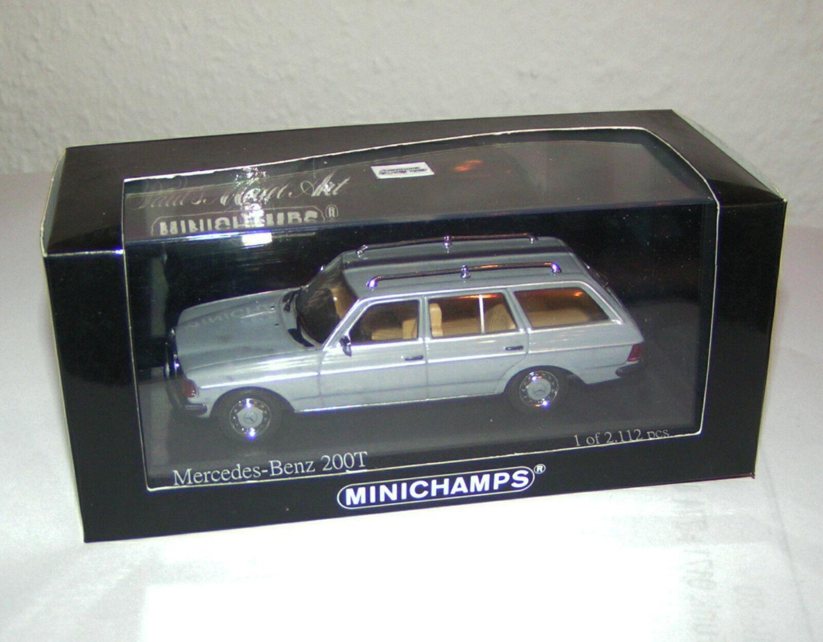 Mercedes-Benz 200 T - W 123 Break T-Modelll Kombi grau   grau - Minichamps 1 43