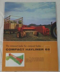 Sperry New Holland Hayliner 65 Lady Bale Compact Small Square Baler Brochure