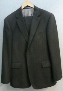 Austin Reed Signature Men S Grey Two Pieces Pinstripe Wool Suit Size 42 R Ebay