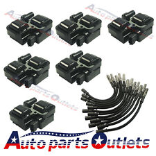 For Mercedes-Benz C CL CLK ML Class  Ignition Spark Coils with Plug wire sets