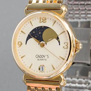 Herren-Damen-Armbanduhr-Gaddy-039-s-Quarz-Neuzustand-NOS-ungetragen