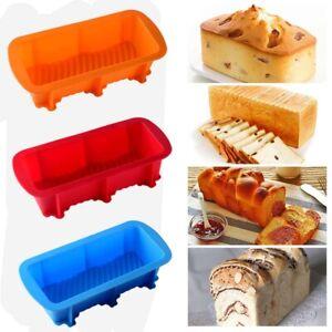 Non-stick Silicone Toast Bread Cake Baking Mold Loaf Tin Bakeware Pan Mould DIY