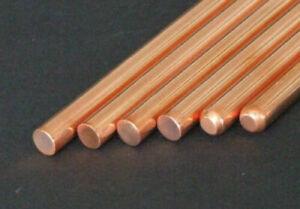 5 stk Rund Kupferstab Fräsen Gravur Rein 99.9/% Kupfer Stange Cu 100mm x 3mm Stab