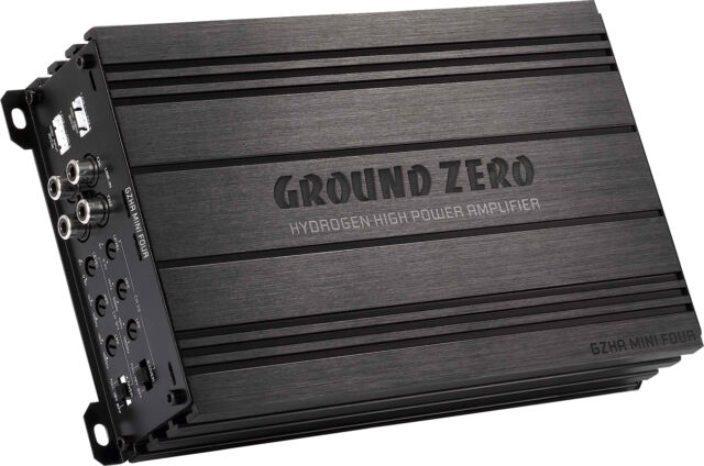 Ground Zero Gzha Mini Four 4 Canali Amplificatore Fase Finale Class Ab
