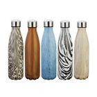 500ml Insulated Double Wall Vacuum Stainless Steel Water Bottle Cola Shaped LAUS