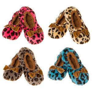 Snoozies Zapatillas Lavable Super Suave Polar cálido acogedor Estilo Animal Print C Asst