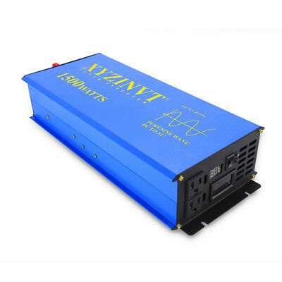 Chargers & Inverters Reasonable 1500w Pure Sine Wave Power Inverter Convert 12v/24v To 120v/220v Remote Control Delicacies Loved By All Home & Garden