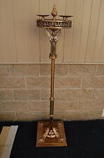 "+ Advent Wreath w/Angel + Bronze & Wrought Iron + 67"" ht. + + chalice co. (#817)"