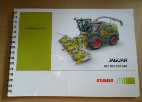Claas Häcksler Jaguar 840 850 880 Fahrertraining 860