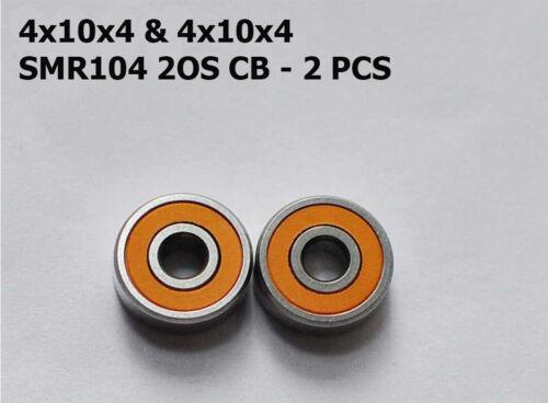 HYBRID CERAMIC BEARINGS 4x10x4 SMR104 2OS CB ABEC-7 2 PCS