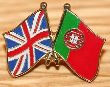 UK & PORTUGAL FRIENDSHIP Flag Metal Lapel Pin Badge Great Britain