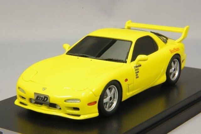 1 43 Hi-Story  MD43202 inicial-D Mazda RX7 FD3S giallo