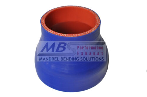 """SILICONE REDUCER COUPLER 4.5/"""" /> 3.5/"""" BLUE 5 PLY HOSE INTERCOOLER TURBO MBS"""
