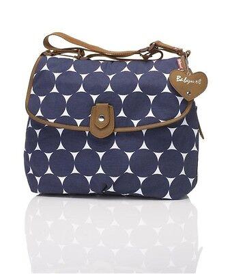 New Storksak Babymel Navy Jumbo Dot Satchel Designer Baby Nappy Diaper Bag +More