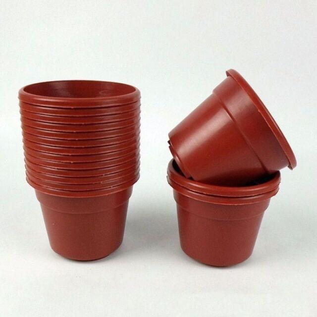 10pcs Pack 4 Round Pot Plastic Flower Pots Plant Nursery Whole