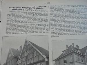 1914 Baugewerkszeitung 36/nécrologie Hilse/ferme Dans Gehrden-ung 36 / Nachruf Hilse / Bauernhaus In Gehrden Fr-fr Afficher Le Titre D'origine