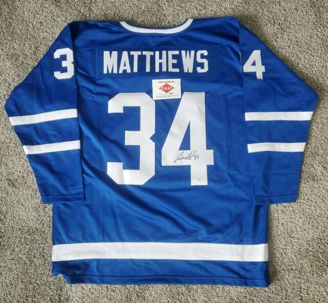 No.34 Auston Matthews Autographed Toronto Maple Leafs custom Jersey COA signed